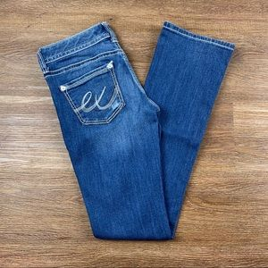 Express Jeans - NEW EXPRESS LOW RISE THICK STITCH BARELY BOOT JEAN
